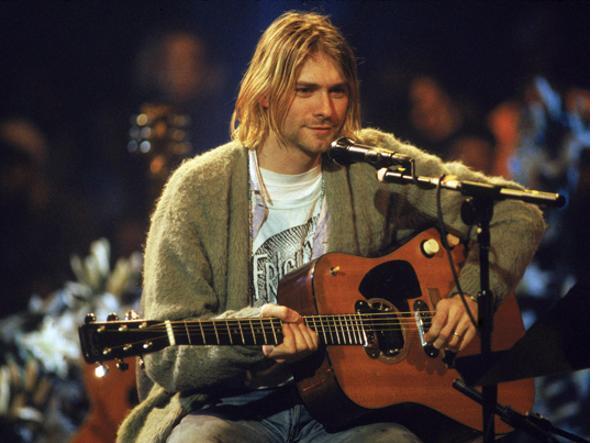 IL CARDIGAN DI KURT COBAIN, indossato da Kurt nell'MTV Unplugged 1993, a pochi mesi dalla morte