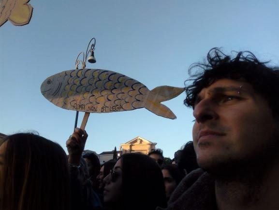 I Social Media e Brave New World: manifestazione Sardine a Roma dicembre 2019