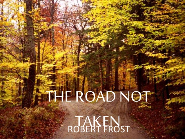 foto che illustra The road not taken, poesia di Robert Frost