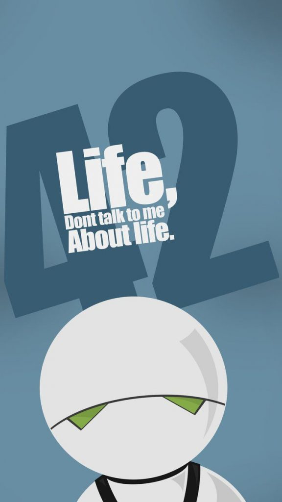 Marvin Paranoid Android: don't talk to me about life