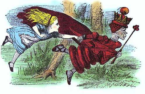Divoratori di tempo: Alice corre per restare ferma con la Regina Rossa