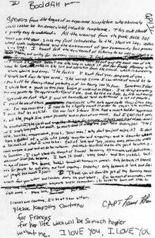 David Foster Wallace moriva 12 anni fa: il suicide note di Kurt Cobain
