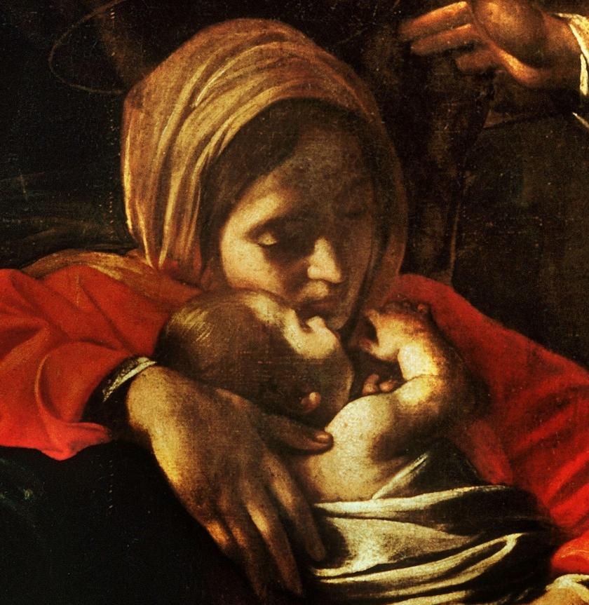 Come creare un giovane Santo digitale: Natività di Caravaggio