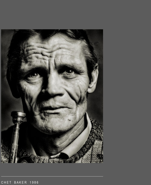Chet Baker 1986 by John Claridge
