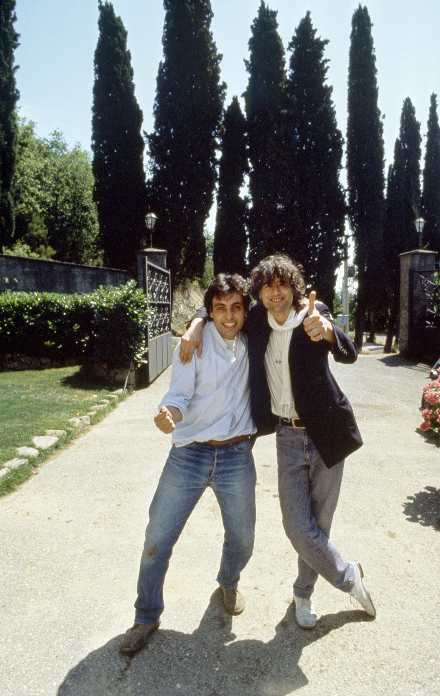 Luciano Viti Rpck in Camera Luciano e Jimmy Page a Pistoia blues